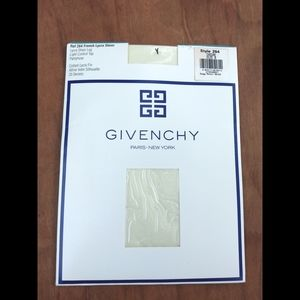 NWT vintage Givenchy dead stock Ivory pantyhose